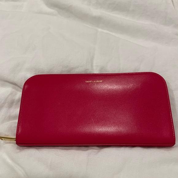 Saint Laurent Handbags - Pink YSL zip around wallet